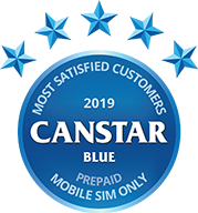 2019 Canstar Blue - Most satisfied customers - Prepaid mobile SIM only