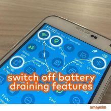 Battery draining features