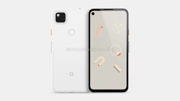 Rendered Image of Google Pixel 4a