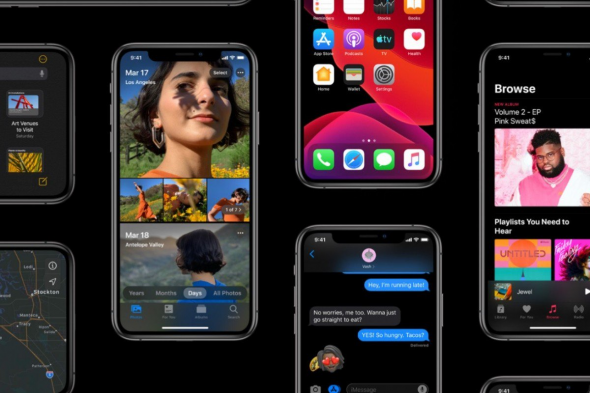iOS 13 Dark Mode Apple