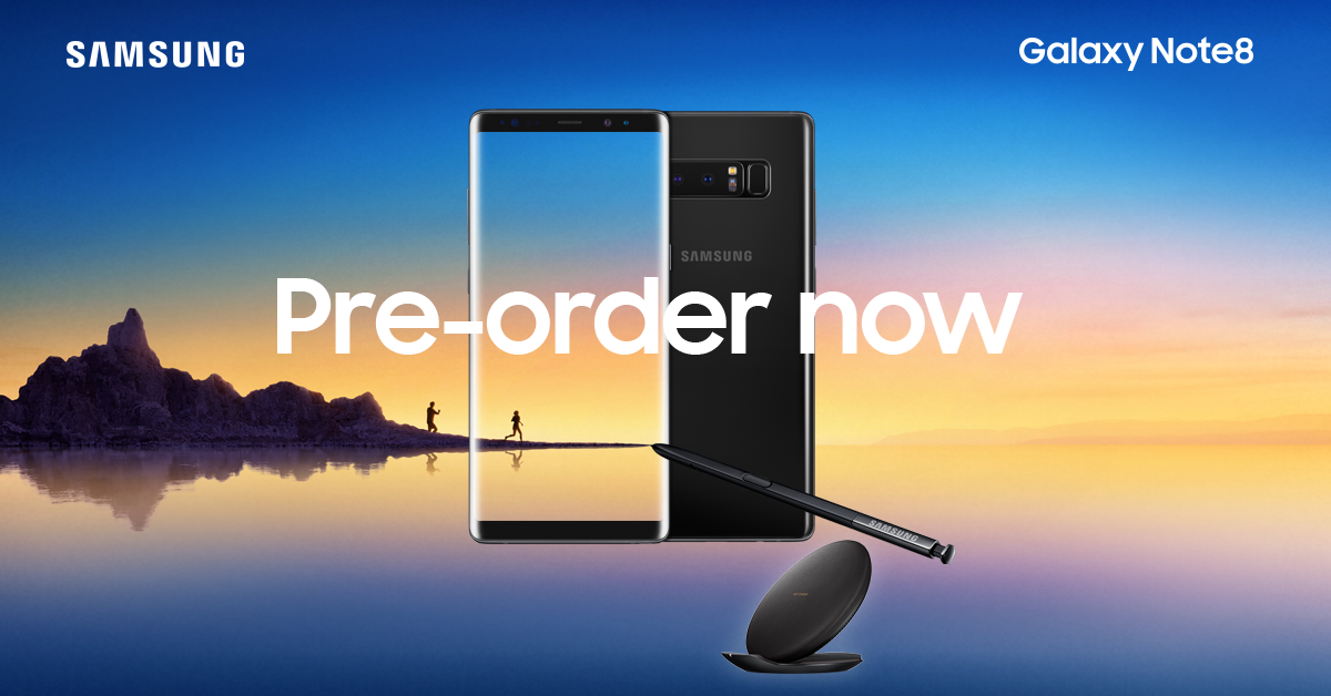 Get the Samsung Galaxy Note8 first from amaysim
