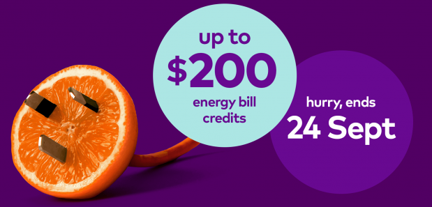 up to 200 dollars energy bill credits. hurry ends 24 Sept