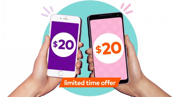 20 dollars mobile credit for you and your friend 2 mobiles