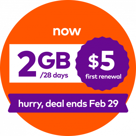 now 2GB/28 days $5 first renewal. Hurry, deal ends Feb 29